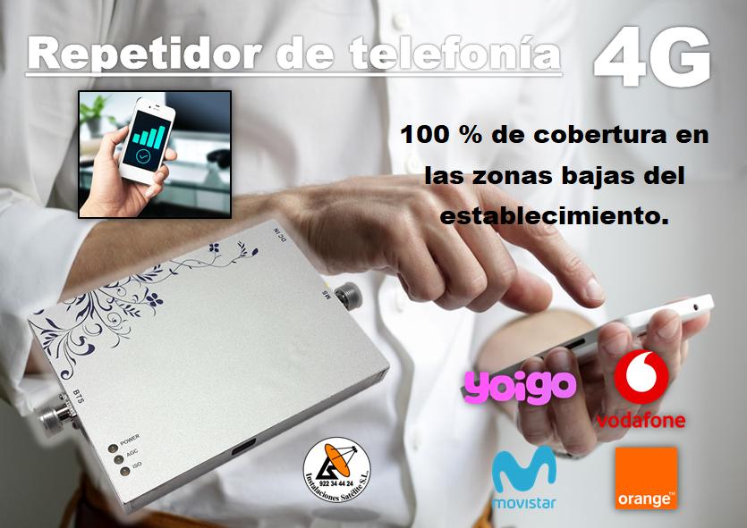 Repetidor de telefonía móvil 4G